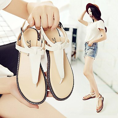 SHOES-XJIH&Uomini sandali Comfort estivo Nylon outdoor casual tacco piatto gancio & Loop a piedi nero,Black,US7 / EU39 / UK6 / CN39
