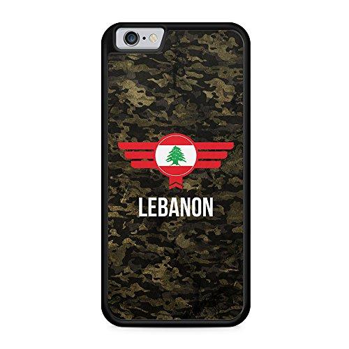 Libanon Lebanon Camouflage mit Schriftzug - Hülle für iPhone 6 & 6s SILIKON Handyhülle Case Cover Schutzhülle - Bedruckte Flagge Flag Military Militär