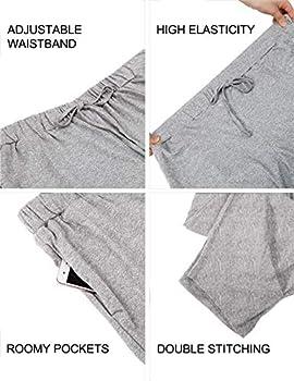 WEWINK CUKOO Women Pajama Capri Pants 100% Cotton Lounge Pants with Pockets Sleepwear