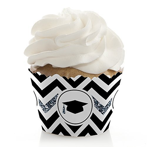 Graduation Wrapper (Silver Tassel Worth The Hassle - Graduation Party Cupcake Wrappers - Set of 12)