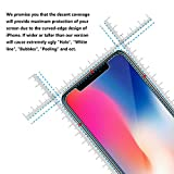iPhone X Screen Protector Glass, Ytingxiad Front Back iPhone X Tempered Glass Screen Protector [Case Friendly] [Bubble-Free] with Easy Installation Frame for Apple iPhone X / 10 [3-Pack]
