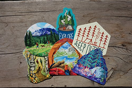 Camping Wilderness Bumper Sticker Pack