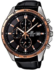 Casio Mens Edifice EFR512L-1AVDF Chronograph Retrograde Leather Quartz Watch with Black Dial LIMTED EDITION