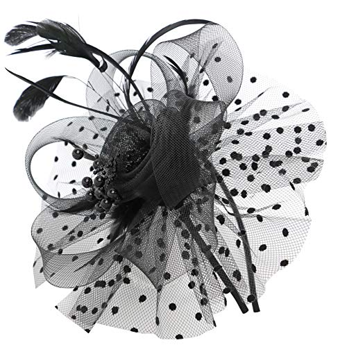 Fascinator Hats for Women Flower Feathers Clip for