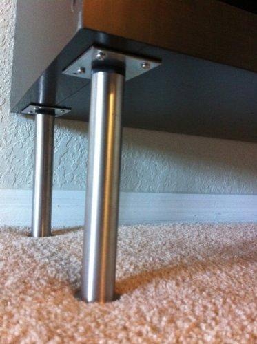 IKEA - CAPITA Leg, Stainless Steel 6 1/4-6 3/4'' (X4)