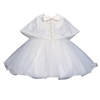 Amazon.com: Sisjuly Baby Girl Dress Christening Baptism Gowns Formal ...