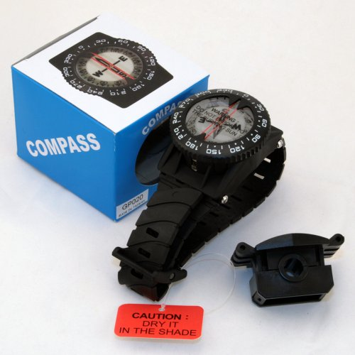 Wrist Mount Compass (Promate Wrist Compass with Hose Mount, Black)