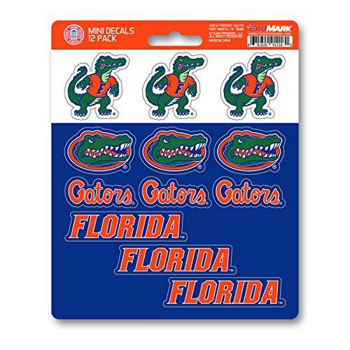 ProMark NCAA Florida Gators Decal Set Mini (12 Pack), Team Color, One Size