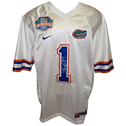 Percy Harvin Autographed Signed Auto Florida Gators White  1 2008 ... b2ee427d3