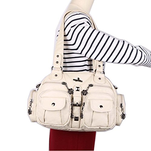 Angelkiss-Functional Large Capacity Shoulder Bags Washed Leather Purses Handbags  AK18579 35dbc98aa27ea