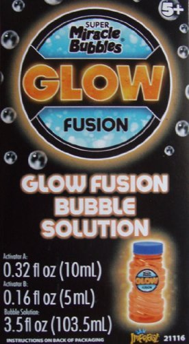 Imperial Toy Glow Fusion Bubble Solution Orange