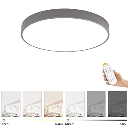 LED Ceiling Light, Ultra-thin 5 Cm Fashion Color Round Ceiling Lamp Bedroom Kitchen