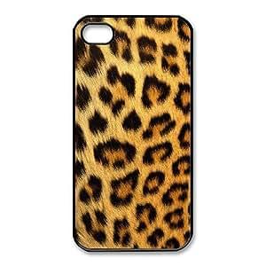 iphone4 4s Phone Case Black Snow leopard HUX306908