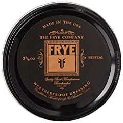 Condition and protect your favorite pair of Frye® boots from the rain with the Frye Leather Conditioning Cream. Product packaging has been updated and may appear different from images. Conditions, weather proofs and restores. Does not waterpr...