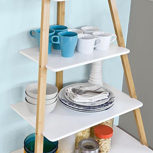 Sobuy estanter a para ba o estanter a de cocina estanterias de dise o 4 estantes 7 ganchos - Ganchos para estanterias ...