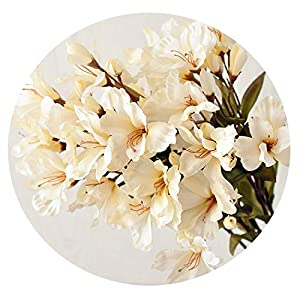 HuaHua-Store Silk Wild Lily with Leaves Artificial Flowers for Party Home Floral Decor Wedding Decoration Decorative Fake Flower 21