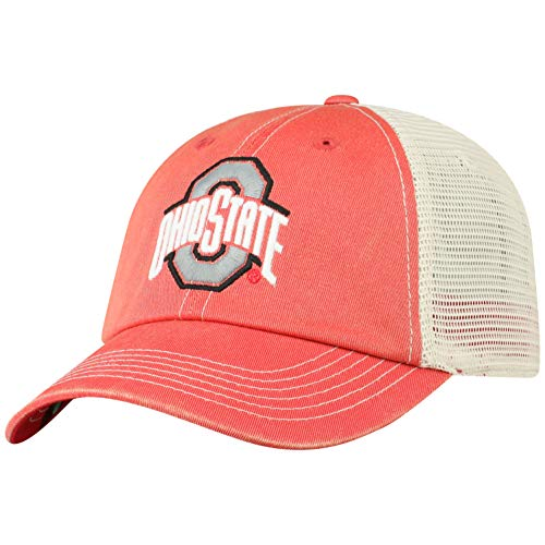 Top of the World Ohio State Buckeyes Men's Vintage Hat Icon, Red, - Cap Ohio Womens