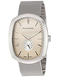 Philip Stein Men's 72-CBE-MSS Modern Analog Display Swiss Quartz Silver Watch