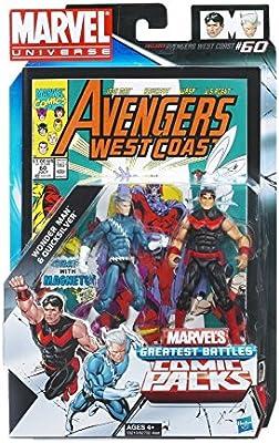 Marvel Universe Wonder Man and Quicksilver Figure Comic Pack 4 ...