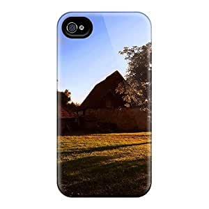 Flexible Tpu Back Case Cover For Iphone 4/4s - Country Lscape At Sunset