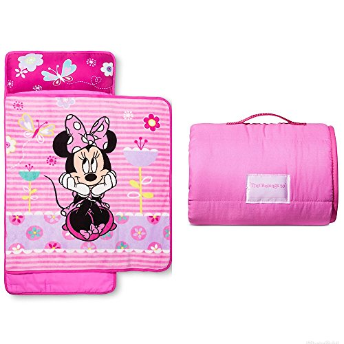 Disney Minnie Mouse Girls Pink Nap Mat with Blanket ()