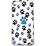 Black Blue Purple Dog Paw Prints Pattern Iphone 7 Plus Case, Protective 7Plus 5.5Inch Cellphone Cover, Lovely Cute Design