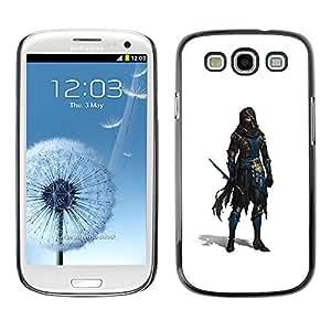 Shell-Star Arte & diseño plástico duro Fundas Cover Cubre Hard Case Cover para SAMSUNG Galaxy S3 III / i9300 / i747 ( Swordsman White Thief Character Game )