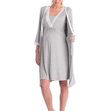 Sunjing Pijamas/Enfermería Cuidado De Vestidos Pijamas/Pijamas De Las Mujeres para Lactancia Vestido