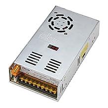 DROK Adjustable DC Power Voltage Converter AC 110V-220V to DC 0-48V Module Switching Power Supply Digital Display 480W Voltage Regulator Transformer Built in Cooling Fan