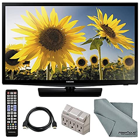 """Samsung UN28H4000 28"""" 720p 60Hz LED TV and Accessory Bundle with Remote Control, HDMI Cable, and FiberTique Cleaning (Tv Led De 28)"""