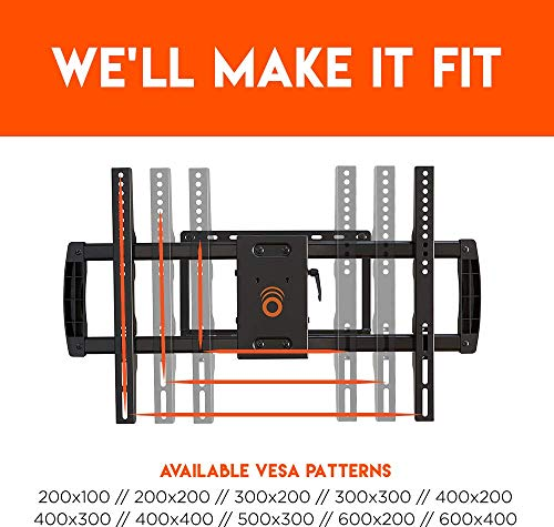 """ECHOGEAR Full Motion Articulating TV Wall Mount Bracket for TVs Up to 75"""" - Extends from The Wall 16"""" with Smooth Swivel & Tilt - Simple 3-Step Install"""