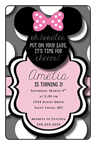 Minnie Mouse Birthday Party Invitation | Personalized -