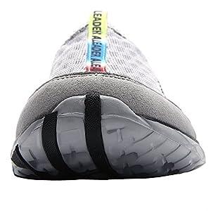 Aleader Men's Mesh Slip On Water Shoes Gray 13 D(M) US