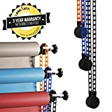 Triple Background Chain Driven Support System | Wall Mounted Bracket Chain Pulley for 3 Backdrop Rolls Life of Photo | Heavy Background Support With Secure Fixings | 3 Roll Bracket Wall Supports