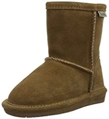 Suede boot with side zipper for each entry