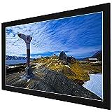 LEESONS INC. 100'' Aluminum Frame Presenter Movie Projector Screen Wall Mount 16:9 - Black Frame -