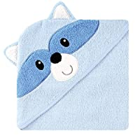 Luvable Friends Animal Face Hooded Towel, Raccoon