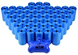 960 Pet Waste Bags, Dog Waste Bags, Bulk Poop Bags on a roll, Clean up poop bag refills - (Color: Blue) + FREE Bone Dispenser by Downtown Pet Supply