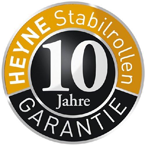 Lauffl/äche schwarz Heyne STABIL 5x Hartbodenrollen 10 mm 50 mm B/ürostuhlrollen f/ür Hartb/öden
