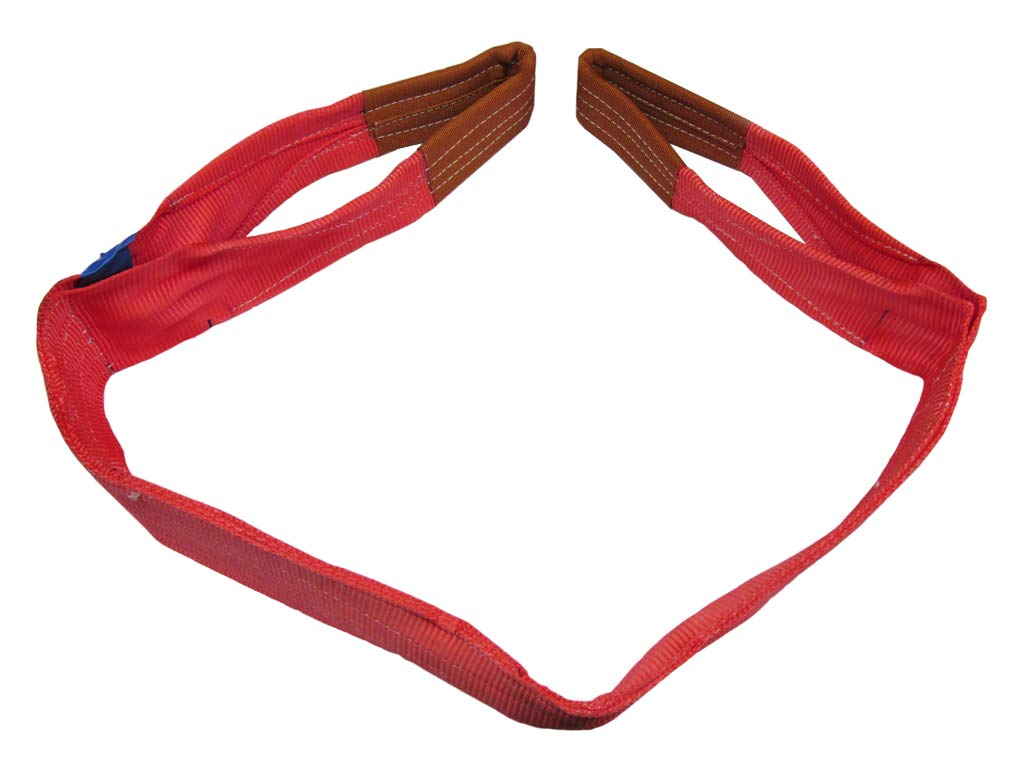 5T 8M Duplex Web Sling 150MM Red Strap Hoist Lifting Strop 5000KG