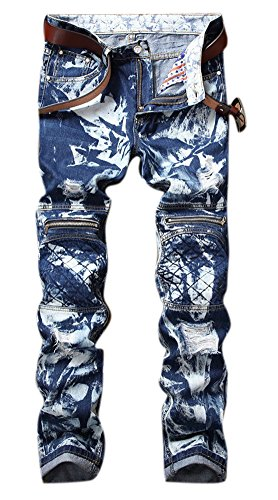 Zipper Cotton Men Jeans - 4