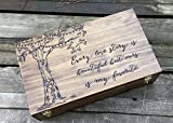 Wine box for two bottles of wine, Custom wine box, double wine box, Personalized wine box