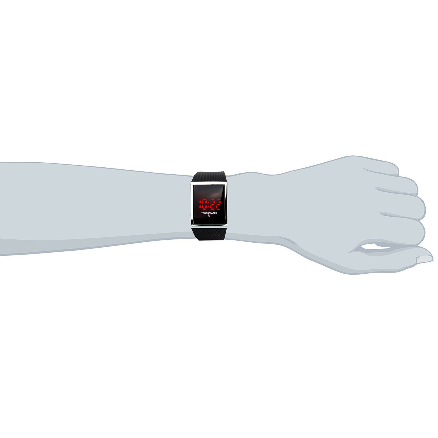 Touch Screen Outdoor Sports Black Watch with LED, Digital for Boys Girls, Above 10 Years Old Kids by FIZILI (Image #2)