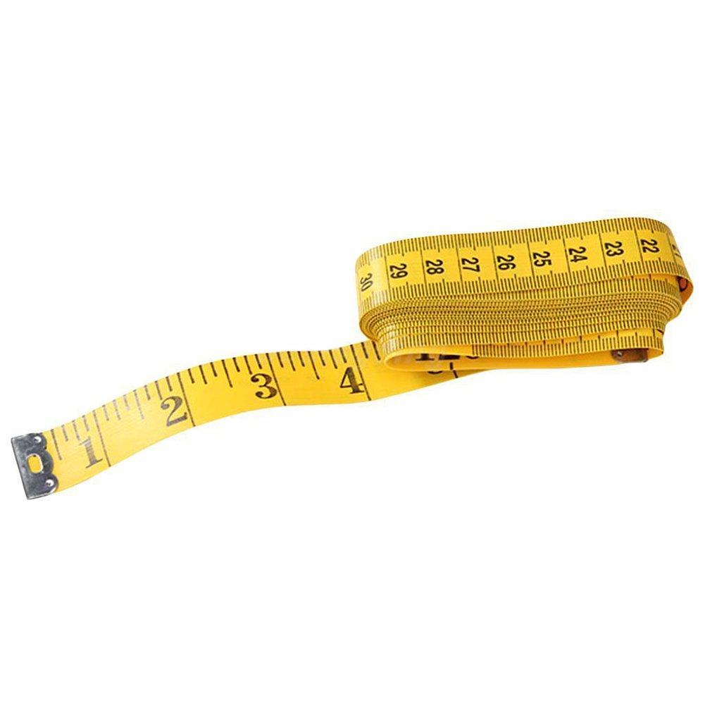 300cm/120inch Soft Tape Measuring Body Weight Loss Medical Measurement Sewing Tailor Cloth Rulers Dressmaker Flexible Ruler Yellow(Yellow) LVOERTUIG