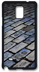 Dark Floor Tiles Case Cover for Samsung Galaxy Note 4, Note 4 Case, Galaxy Note 4 PC Black Case Cover by ruishername