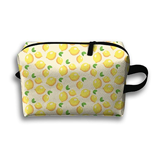 Single Buggy Bag - Portable Travel Toiletry Pouch Travel Bag Toiletry Bag Buggy Bag A Single Lemon Printing Clutch Bag With Zipper