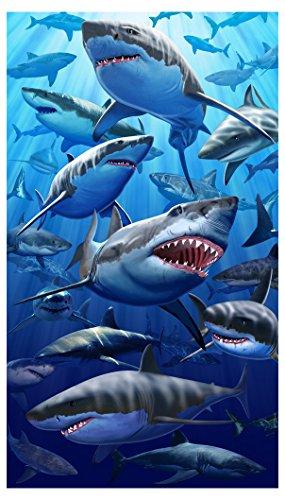 Giant Great White Shark Beach & Bath Towel