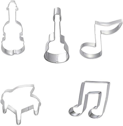 Carry stone - Lote de 5 moldes de Notas Musicales, violín ...