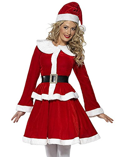 Cuteshower Sexy Christmas Costume Outfit Dress Santa Claus Women Cosplay Clothing