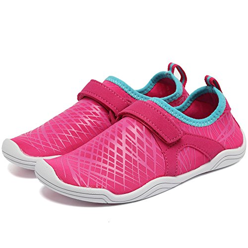 Fantiny Boys & Girls Water Shoes Lightweight Comfort Sole Easy Walking Athletic Slip on Aqua Sock(Toddler/Little Kid/Big Kid) DKSX-Pink-33 by CIOR (Image #3)